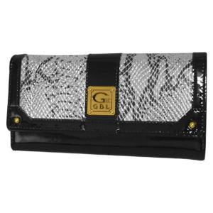 LW9509 정품 GBL 여성용 블랙 애나멜 콤비가죽 장지갑