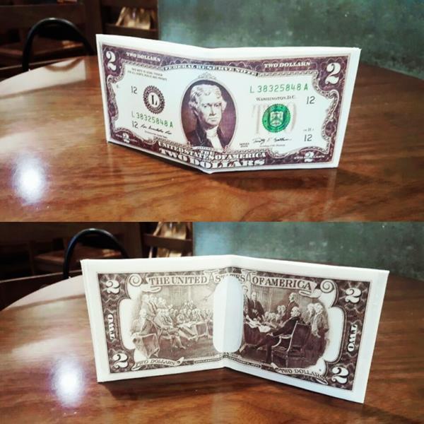 리얼 럭키 지폐 지갑