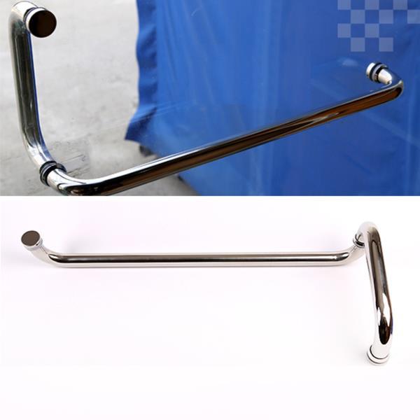 강화유리문손잡이 스텐파이프