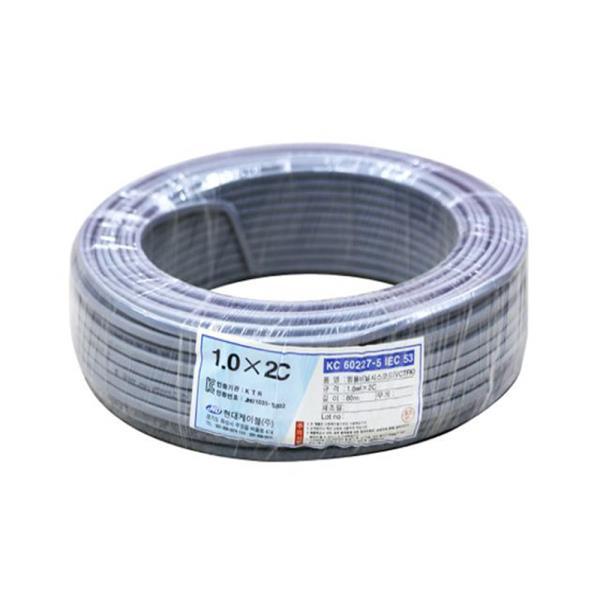 전선 장원형전선 1.0SQx2C(80M)