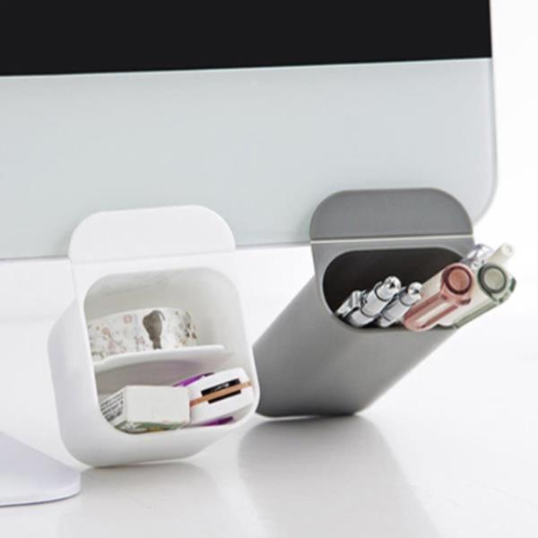 접착식 데스크 연필꽂이 모니터 펜꽂이