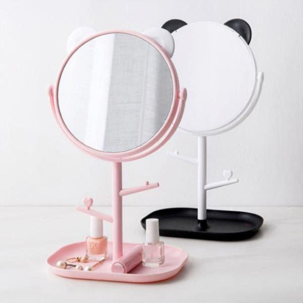 귀여운 곰돌이 탁상거울 학생거울 스탠드 거울