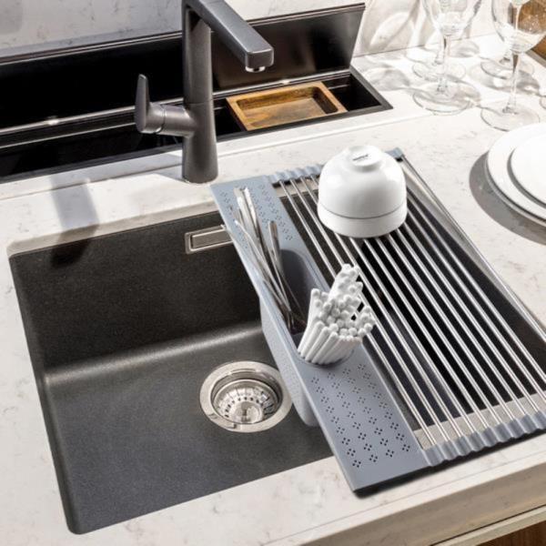 싱크대 건조매트 롤매트 드라잉매트 식기 접시 그릇 리빙홈 설겆이 선반 씽크 개수대  롤타입 물빠짐 접이식 주방 설거지  실리콘 식기건조