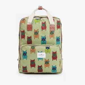 귀여운 강아지 패턴 백팩 여행가방 책가방