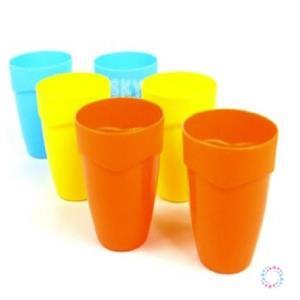 파스텔 파티컵 6p (3색상) 어린이물컵 유아쥬스컵