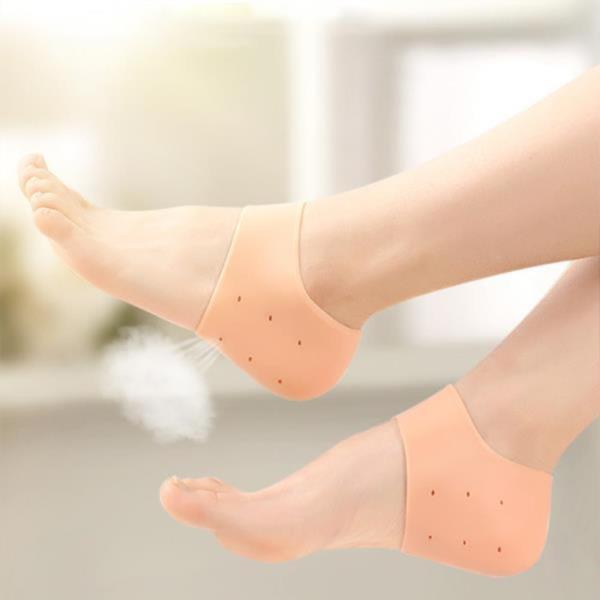 각질제거 수분보호 촉촉 갈라짐 통증 발뒤꿈치 패드 뒷꿈치 건조 방지 보습 실리콘 발 뒤꿈치 패드 뒤꿈치 보호대 2P DD-10636