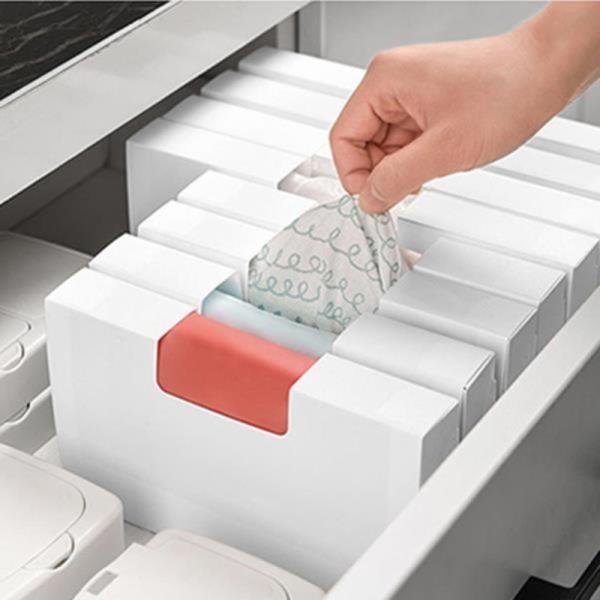 소품정리 봉투 비니루 케이스 다용도 정리보관대 재활용봉지 비닐봉투 정리함 비닐보관함 비닐봉지정리함 DD-10500
