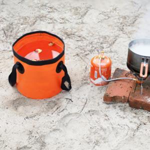 싱크백 원형 캠핑버킷 주방용품 양동이 캠핑 방수 워터백 폴딩 버킷 설거지통 20L손잡이 접이식 세척용 물