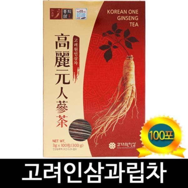 고려원 인삼차 100티백 Ginseng Tea 100T 인삼과립차