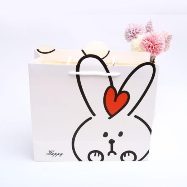 토끼 손잡이 선물 쇼핑백 L