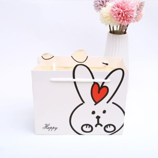 토끼 손잡이 선물 쇼핑백 M
