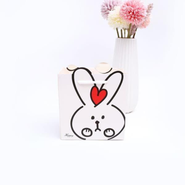 토끼 손잡이 선물 쇼핑백 S