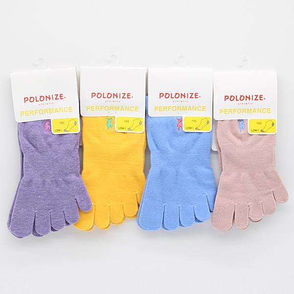 여자 폴로나이즈 발가락양말(발목) PL110 10켤레 랜덤