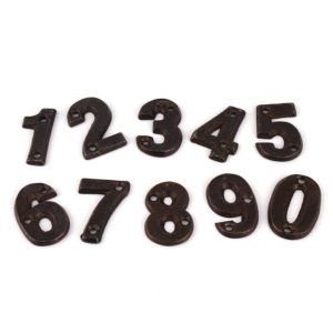 주물장식 숫자 0-9 NUMBER 표찰 황동사인 간판2587
