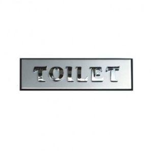 TOILET(이니셜)_알루미늄 표찰 사인 간판(2646)