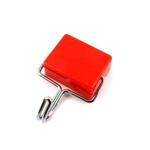 사각자석옷걸이 빨강 CB (4142)