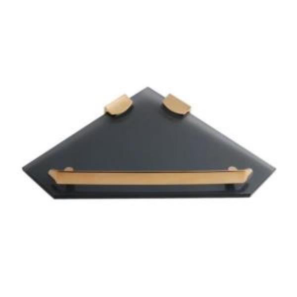 코너선반 유리 248X250 블랙 골드라인 CN7598