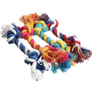 츄로프 애완동물 강아지 매듭 장난감 개껌 치아 개뼈