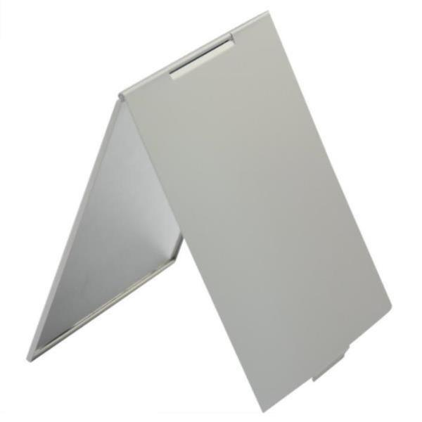 화장거울 메이크업 포켓 실버 사각형 접이식 미러 c