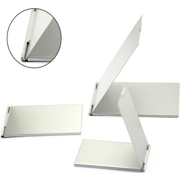 화장거울 메이크업 포켓 실버 사각형 접이식 미러 e