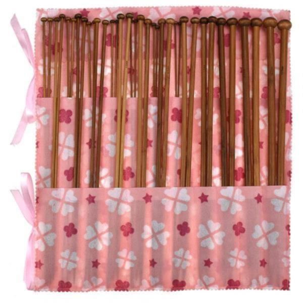 뜨개질바늘세트 36팩 대나무 스웨터 DIY 털실 수세미