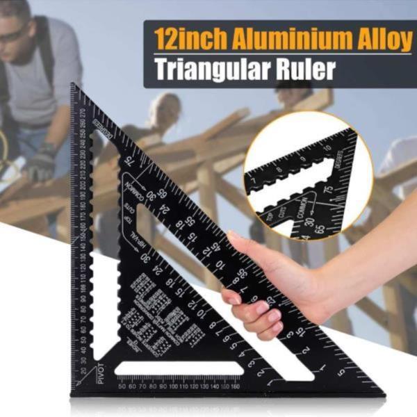 삼각자 알루미늄 눈금자 각도기 목공 측정 도구 30cm