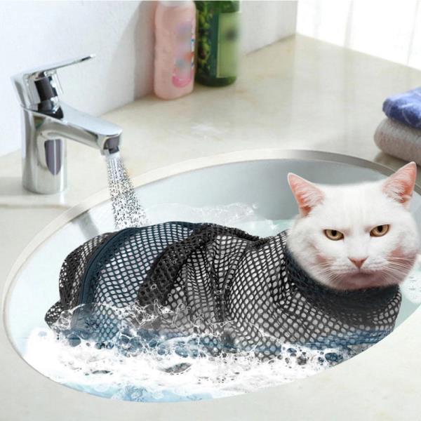 고양이 캐어 목욕 가방 애완용품 손톱 발톱 스크래치