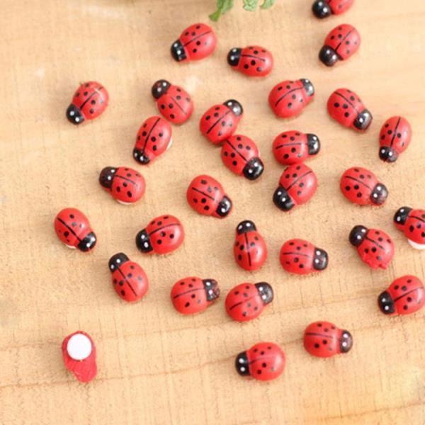 딱정벌레 무당 벌레 모형 소형 인형 정원 식물 장식품