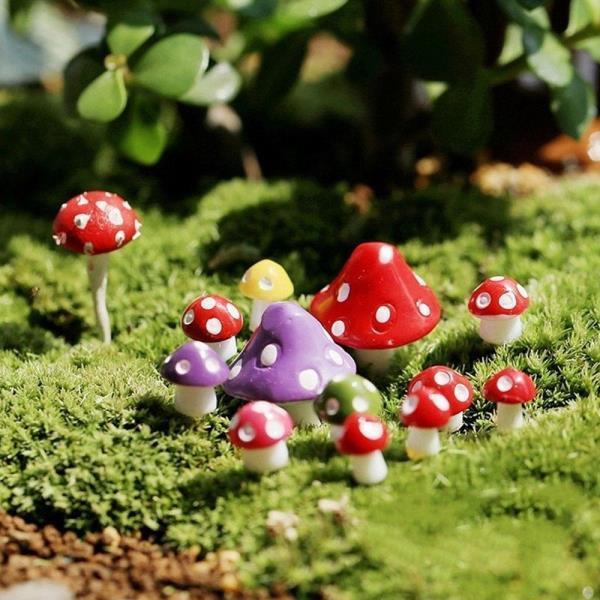 빨간버섯세트 장식 조경 분재 식물 원예 요정 정원 홈