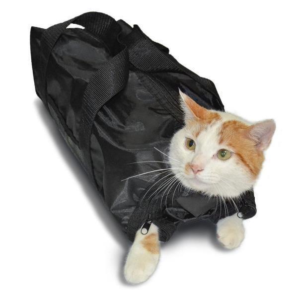 반려묘 캐어 목욕 가방 고양이 메쉬 세탁 손톱 트리밍
