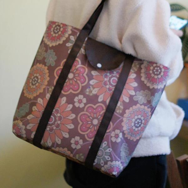멀티플라워 폴딩 부직포백 마켓백 가방 시장가방