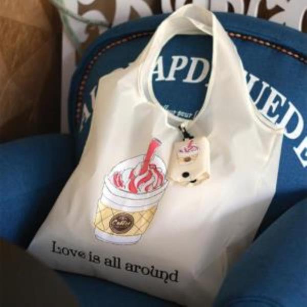 커피 폴딩 에코백 시리즈 장바구니 가방