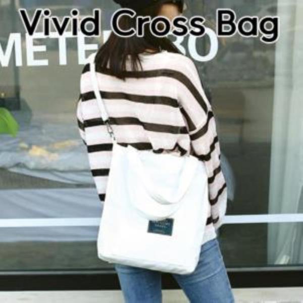 비비드 크로스백 캔버스 가방
