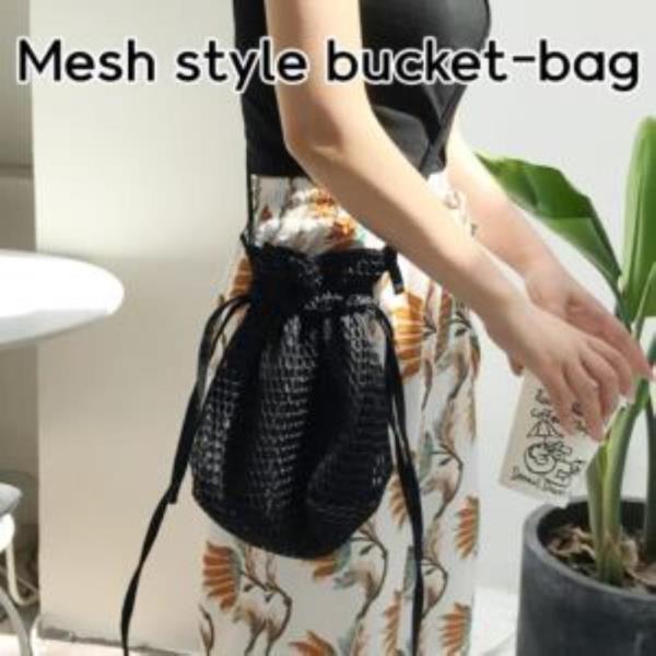 메쉬 스타일 버킷백 [소] 가방 트래블 여행