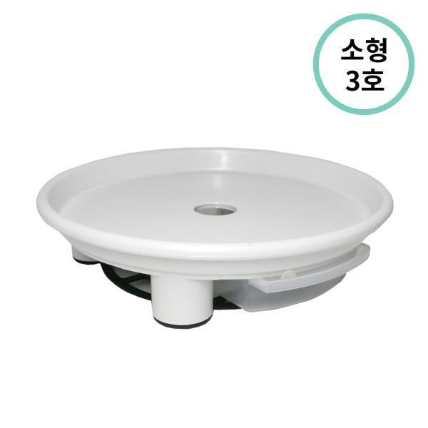 플라팜 원형화분받침 소형 3호 (화이트) 50개입