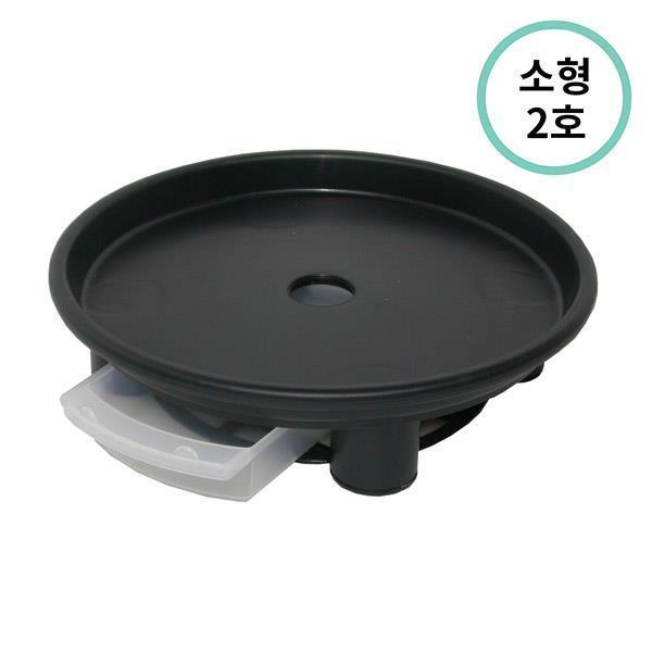 플라팜 원형화분받침 소형 2호 (블랙) 60개입
