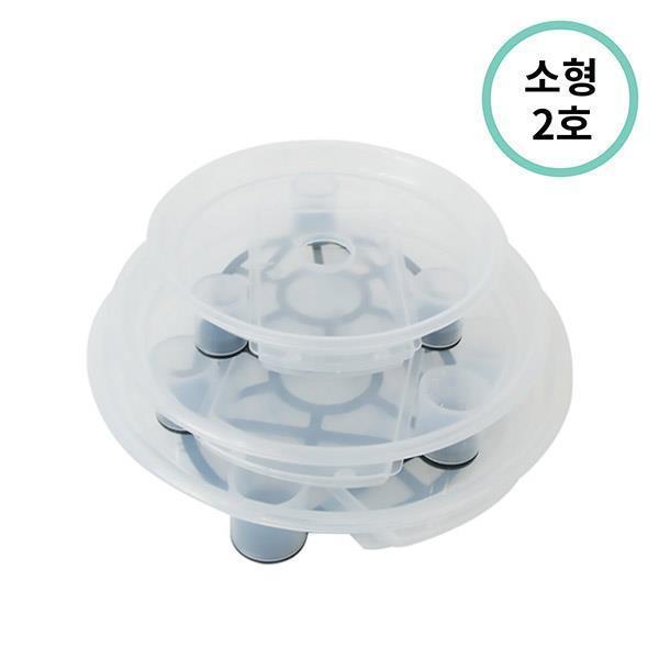 플라팜 원형화분받침 소형 2호 (투명) 60개입