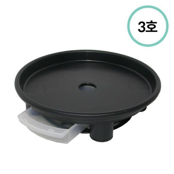 플라팜 원형화분받침 3호 (블랙) 45개입