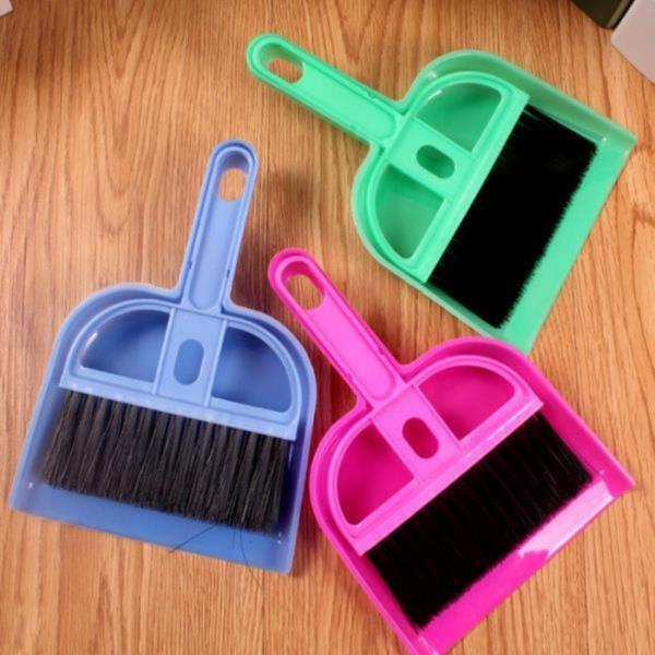 미니 빗자루세트 쓰레받기 책상 청소