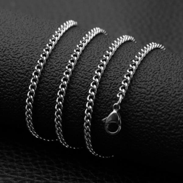 써지컬스틸 커브체인 목걸이(4mm)