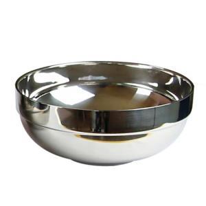 스텐 이중탕기 그릇 특대 21X9cm 대접탕기