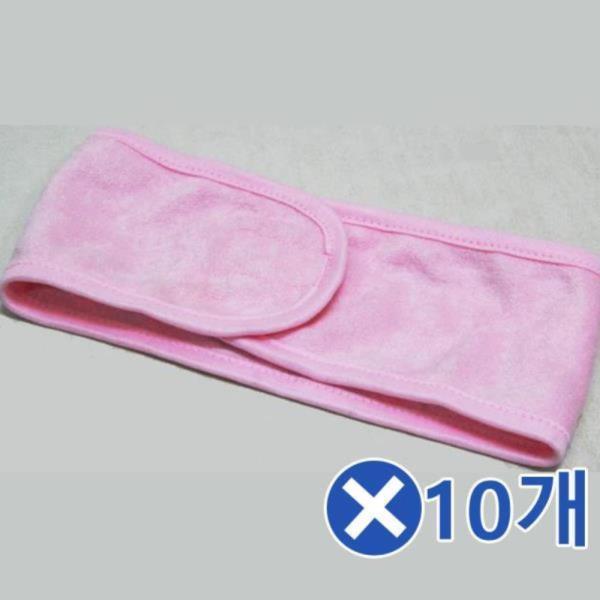 소프트 세안헤어밴드x10개-색상랜덤 깔끔한스타일