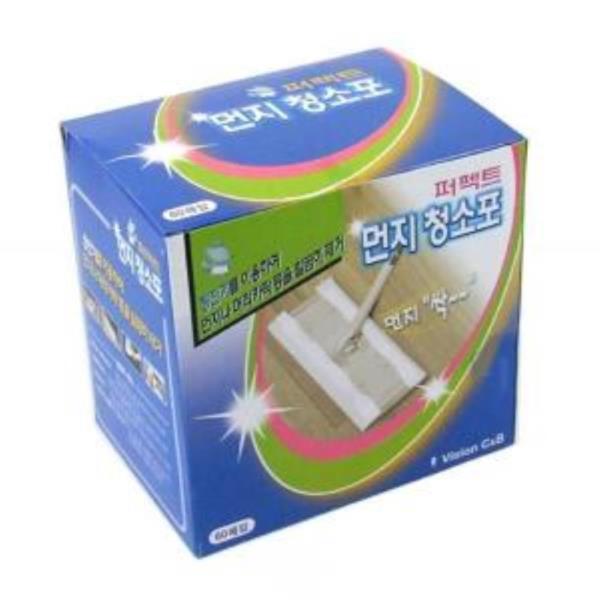 정전기 먼지 부직포 청소포 60매 정전기청소기 방걸레
