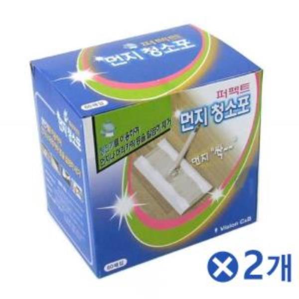 정전기 먼지 부직포 청소포 60매x2개 청소밀대 밀걸레