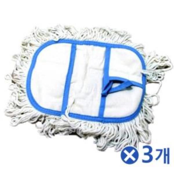 크린 밀대 방걸레 교체용-중x3개 물걸레리필 마대걸레