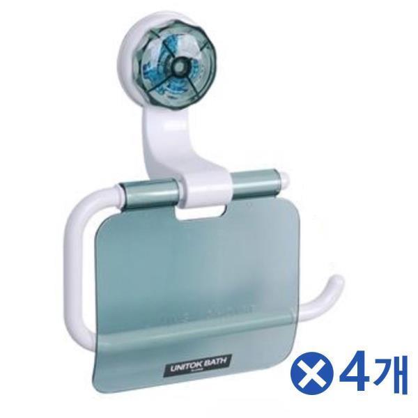 진공흡착형 휴지걸이-색상랜덤x4개 욕실휴지케이스