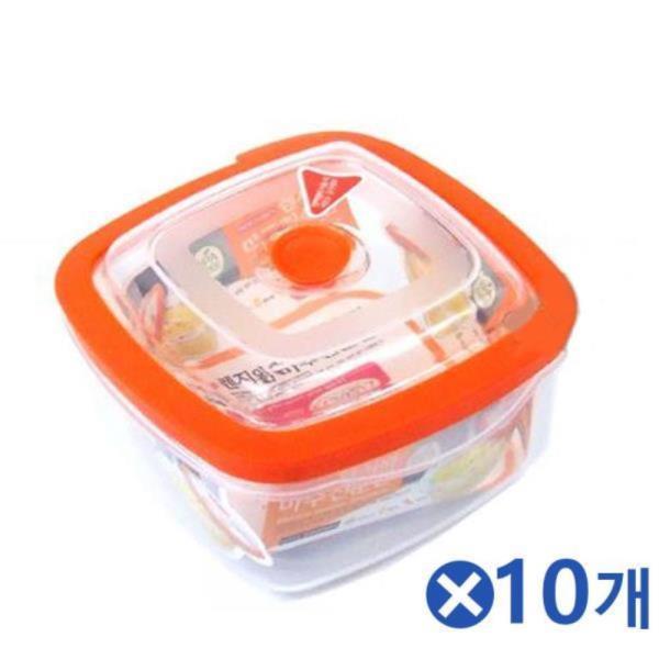 정사각형 전자레인지용기 1000mlx10개 냉장보관용기