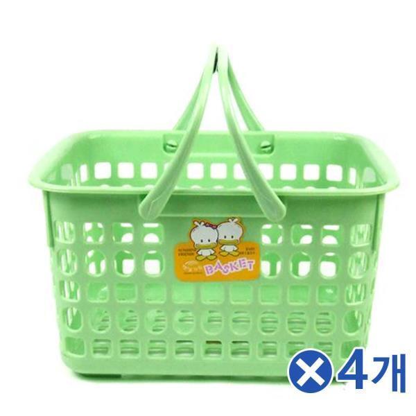 햇살가득 목욕바구니-색상랜덤x4개 다용도수납바구니