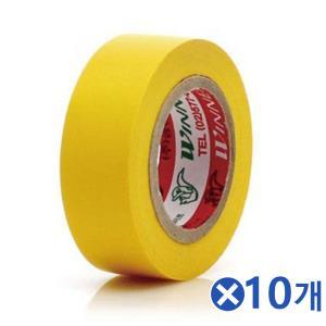 10m 컬러 전기테이프-황색x10개 전기태이프 배선정리