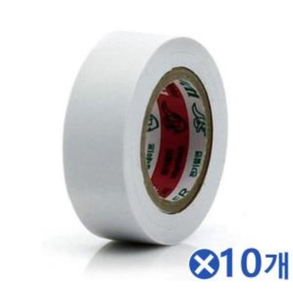 10m 컬러 전기테이프-백색x10개 검정테이프 전선작업
